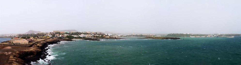 View from Praia lighthouse, Santiago.