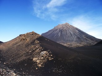 Mount Fogo is an active volcano that last erupted in 1995. The crater/caldera is vast (about 10km in diameter) and full of unusual rock formations and hardened lava streams.